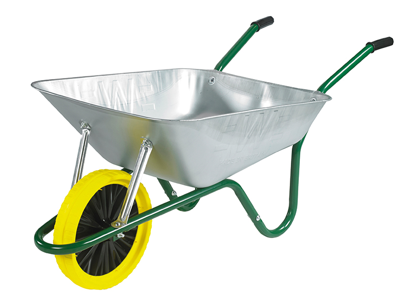 Thumbnail image of Walsall 85L Galvanised Easi-Load Builders Wheelbarrow - Puncture Proof