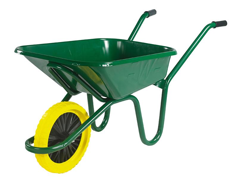 Thumbnail image of Walsall 90L Green Heavy-Duty Endurance Wheelbarrow - Puncture Proof