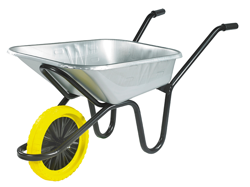 Thumbnail image of Walsall 90L Galvanised Heavy-Duty Endurance Wheelbarrow - Puncture Proof