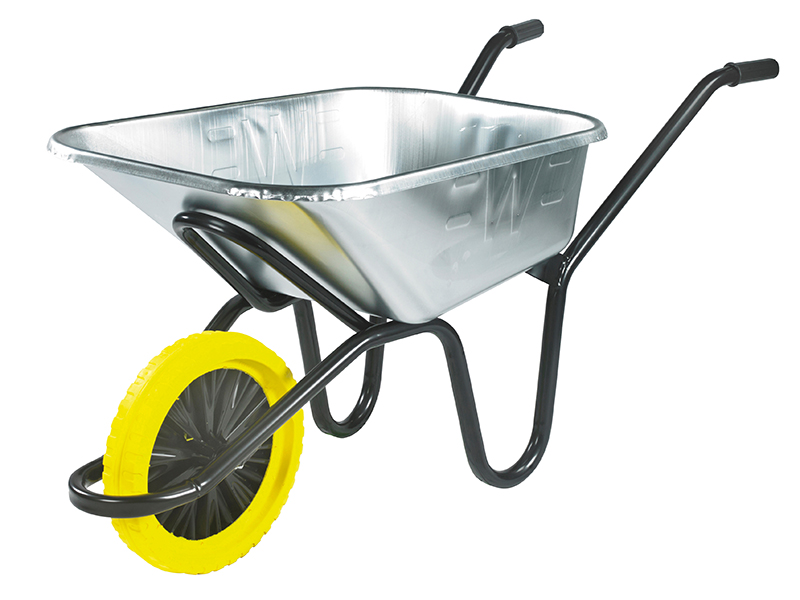 Thumbnail image of Walsall 120L Galvanised Heavy-Duty Invincible Wheelbarrow - Puncture Proof