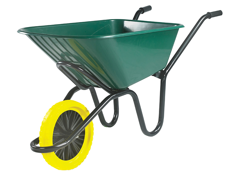 Thumbnail image of Walsall 120L Green Monarch Polypropylene Wheelbarrow - Puncture Proof
