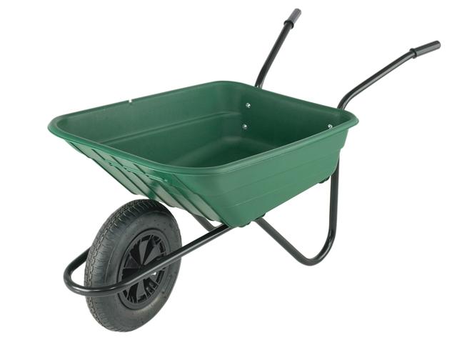 Thumbnail image of Walsall 90L Green Polypropylene Wheelbarrow