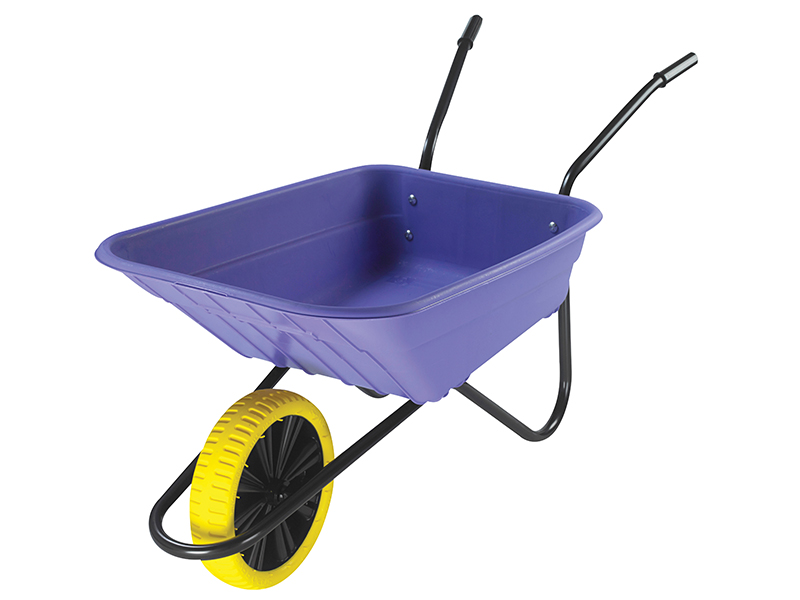 Thumbnail image of Walsall 90L Lilac Polypropylene Wheelbarrow - Puncture Proof