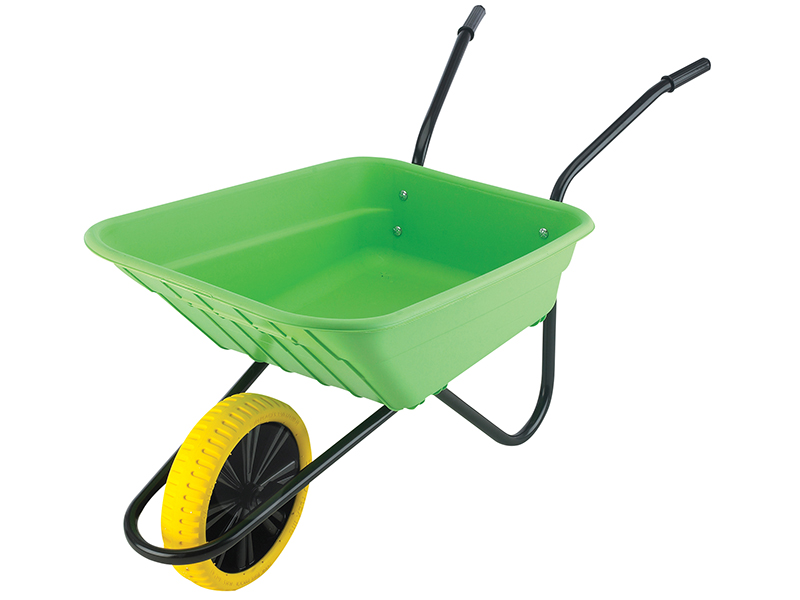 Thumbnail image of Walsall 90L Lime Polypropylene Wheelbarrow - Puncture Proof