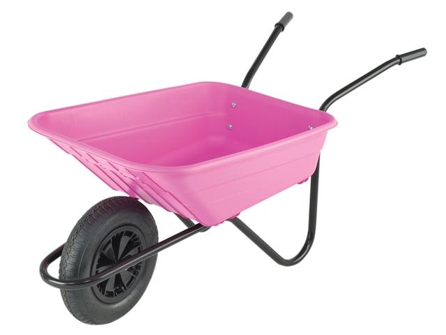 Thumbnail image of Walsall 90L Pink Polypropylene Wheelbarrow