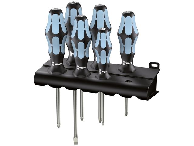 Thumbnail image of Wera Kraftform Plus Stainless Steel Screwdriver Set, 6 Piece SL/PH/PZ