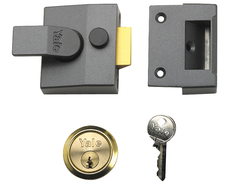 Thumbnail image of Yale 84 Standard Nightlatch 40mm Backset DMG Finish Box