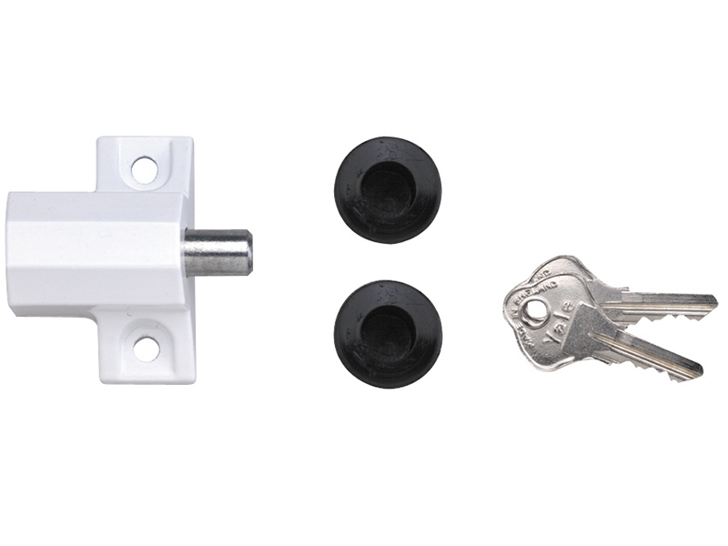 Thumbnail image of Yale P114 Patio Door Lock White Finish Visi-pack