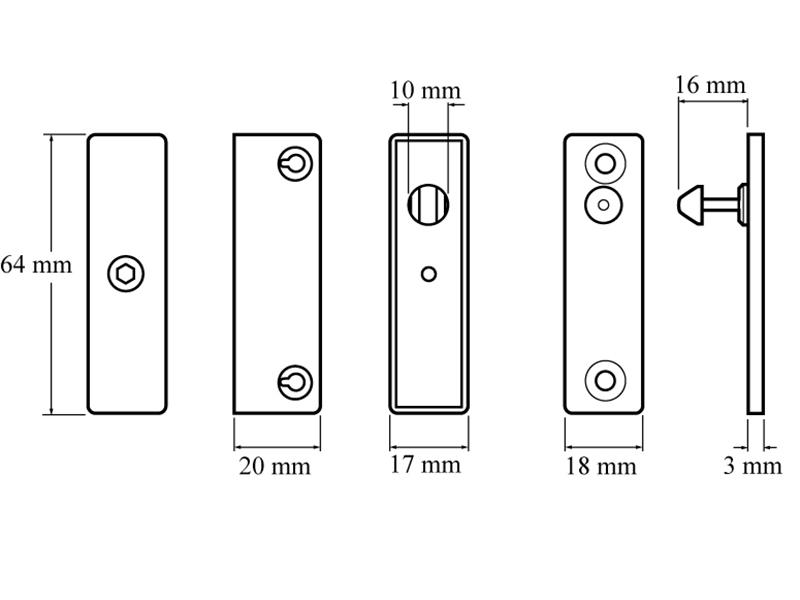 Thumbnail image of Yale P118 Auto Window Lock White Finish Pack of 1