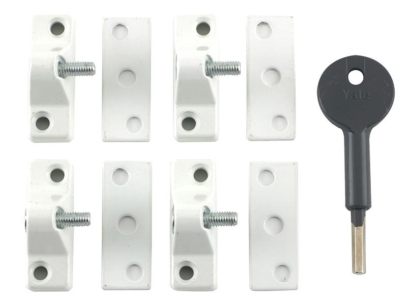 Thumbnail image of Yale 8K118 Economy Window Lock White Finish Pack of 4 Visi