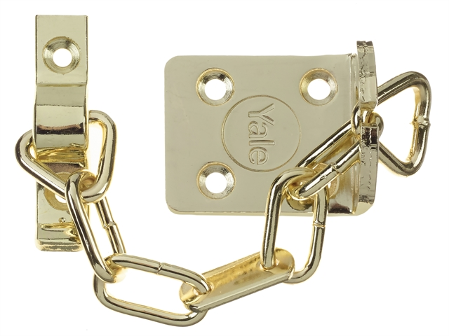 Thumbnail image of Yale WS6 Security Door Chain - Electro Brass Finish