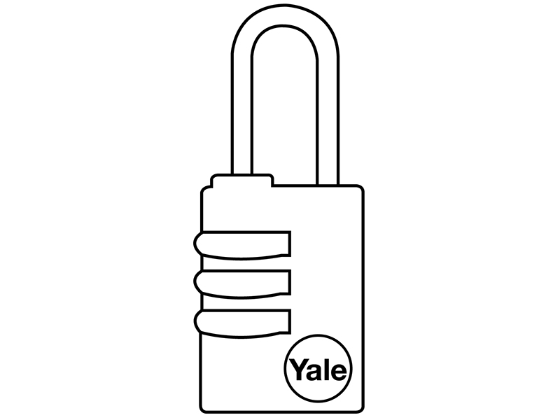 Thumbnail image of Yale Y150 Brass Combination Padlock 22mm
