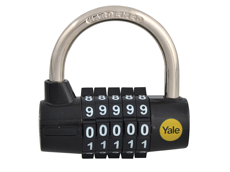 Thumbnail image of Yale Y160 Steel 5-Dial Combination Padlock 48mm