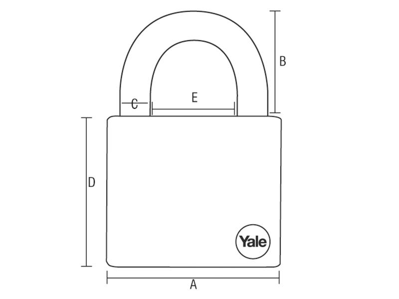 Thumbnail image of Yale Y210 Steel Padlock 51mm