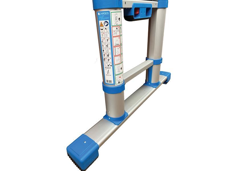 Thumbnail image of Zarges Compactstep L Telescopic Ladder & Stabiliser Bar 3.8m