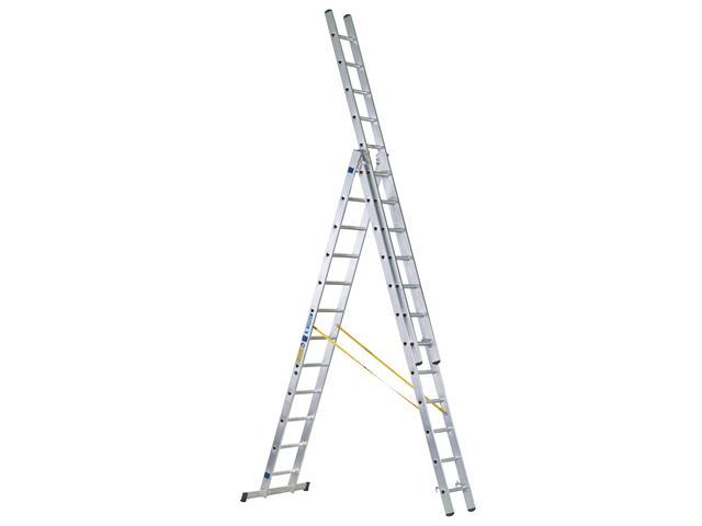 Thumbnail image of Zarges D-Rung Combination Ladder 3-Part 3 x 12 Rungs