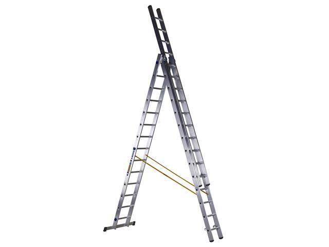 Thumbnail image of Zarges D-Rung Combination Ladder 3-Part 3 x 14 Rungs