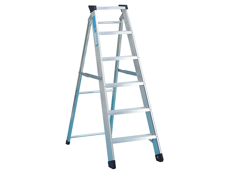 Thumbnail image of Zarges Industrial Swingback Steps Open, 2.60m Closed 2.82m 12 Rungs