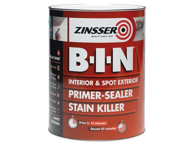 Thumbnail image of Zinsser B.I.N® Primer, Sealer & Stain Killer Paint White 500ml